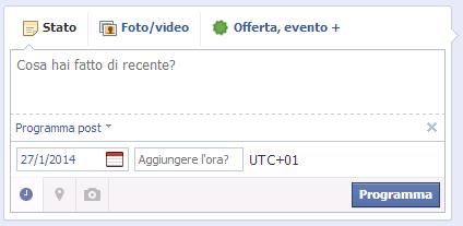Programmazione Pagina Facebook