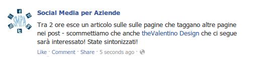 facebook tag pagina
