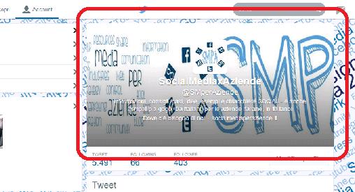 Social media per aziende - Twitter Profile Intestazione