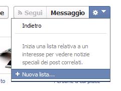 Facebook - nuova lista