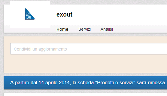 """Linkedin - rimozione """"Prodotti e Servizi"""""""