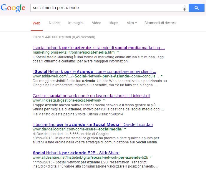 Ricerca Google per SMPA