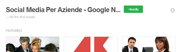 Google news in feedly