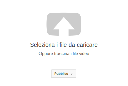 caricare file youtube