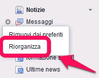 Facebook - riorganizzare i preferiti