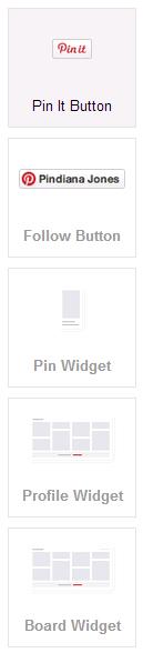 Pinterest widgets