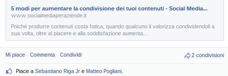 condivisione contenuti facebook