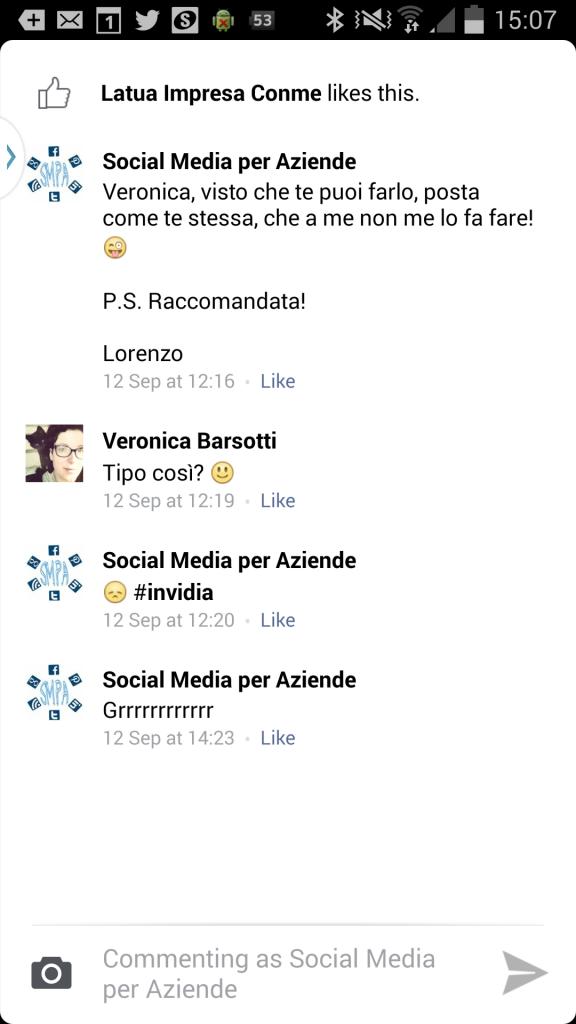 conversazioni facebook android