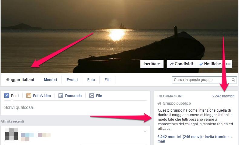 gruppi facebook per i blog