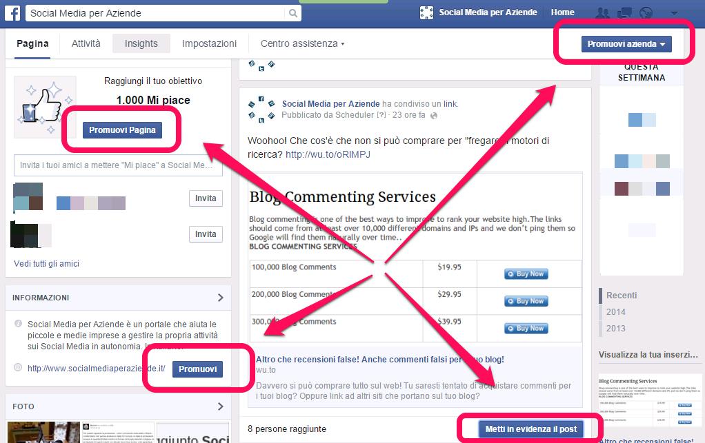 facebook-promozione