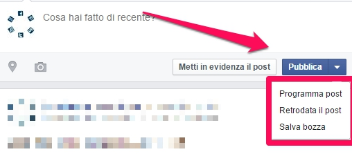 programmare post su facebook