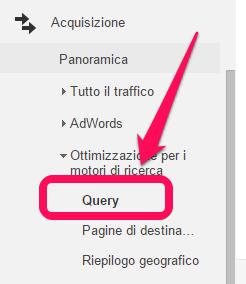 google-analytics-acquisizione-ottimizzazione-query