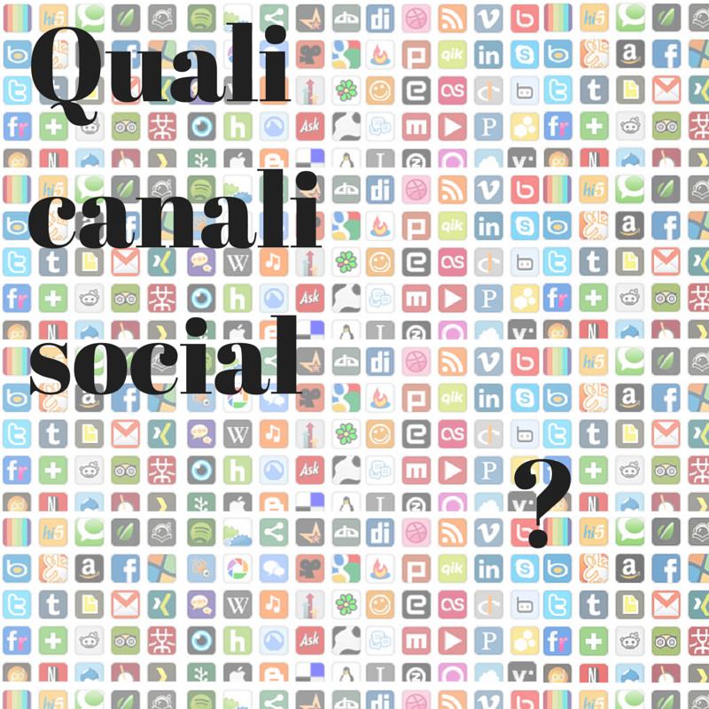messaggio canali social