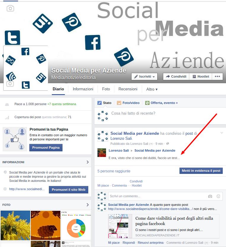 Social Media per Aziende1 post degli altri