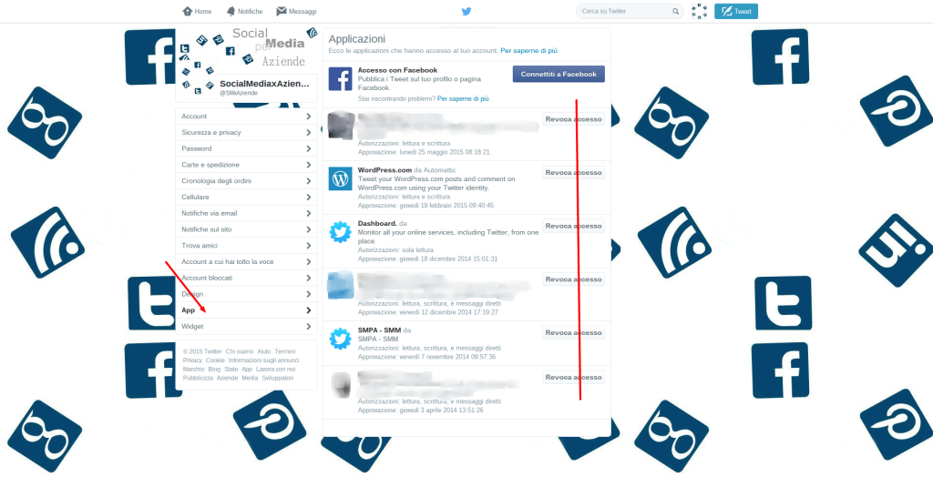 Twitter   Impostazioni - sicurezza