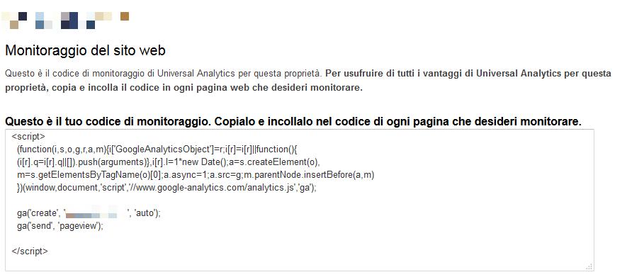 google-analytics-codice-di-monitoraggio