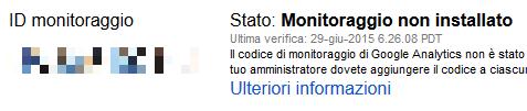 google-analytics-monitoraggio-non-installato