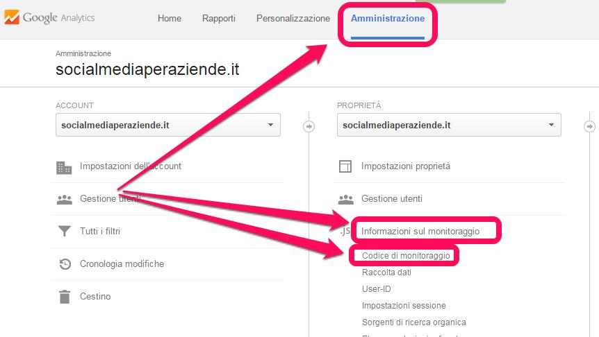 google-analytics-codice-di-moitoraggio